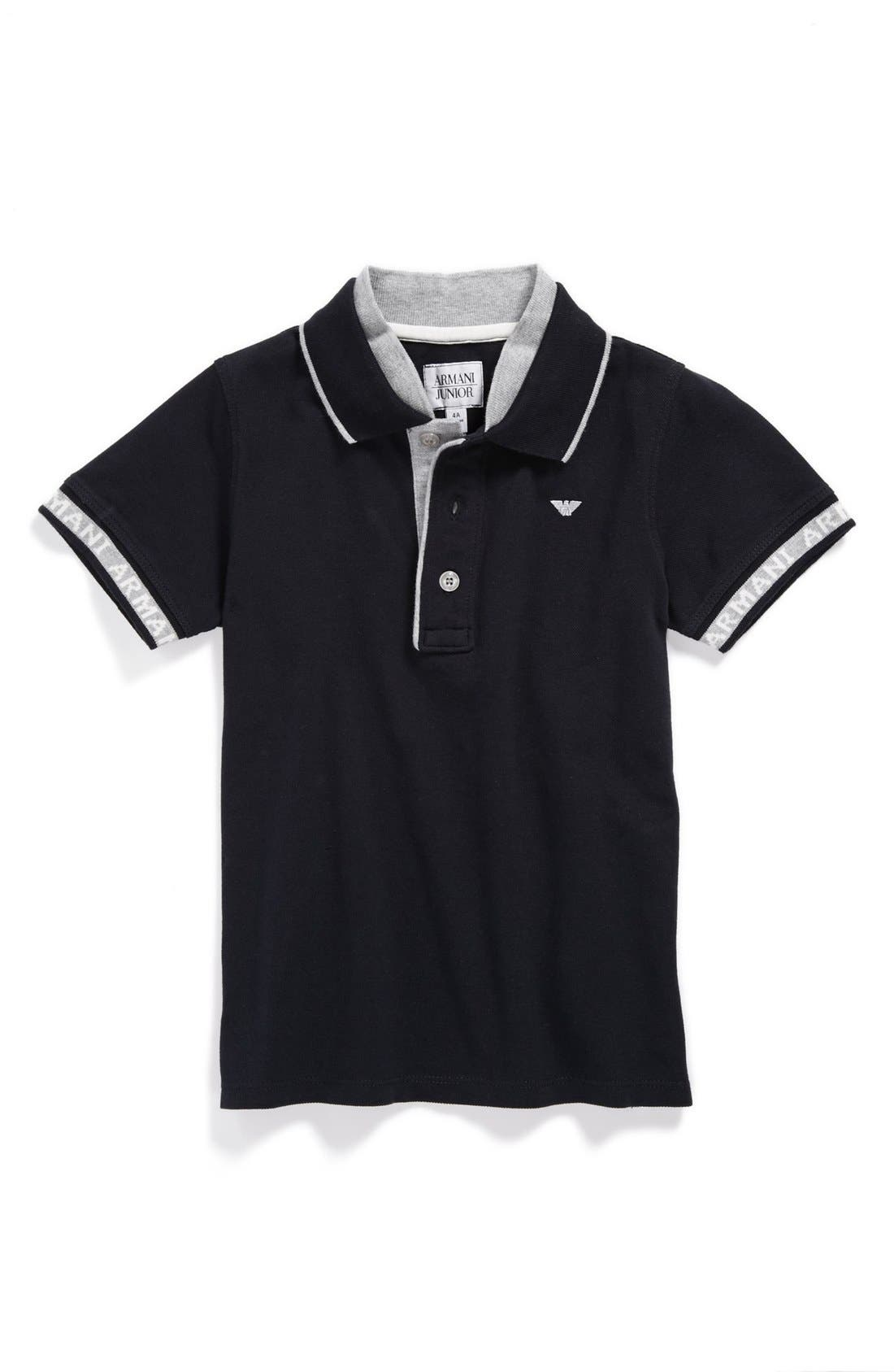 Alternate Image 1 Selected - Armani Junior Polo (Toddler Boys, Little Boys & Big Boys)