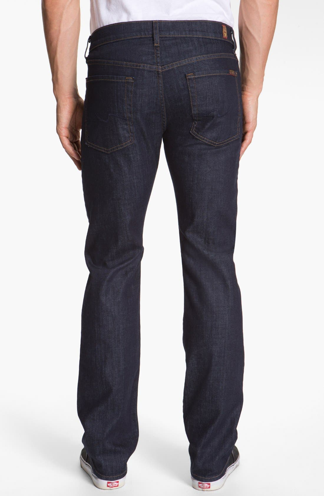 Alternate Image 2  - 7 For All Mankind® 'Standard' Straight Leg Jeans (Dark and Clean)