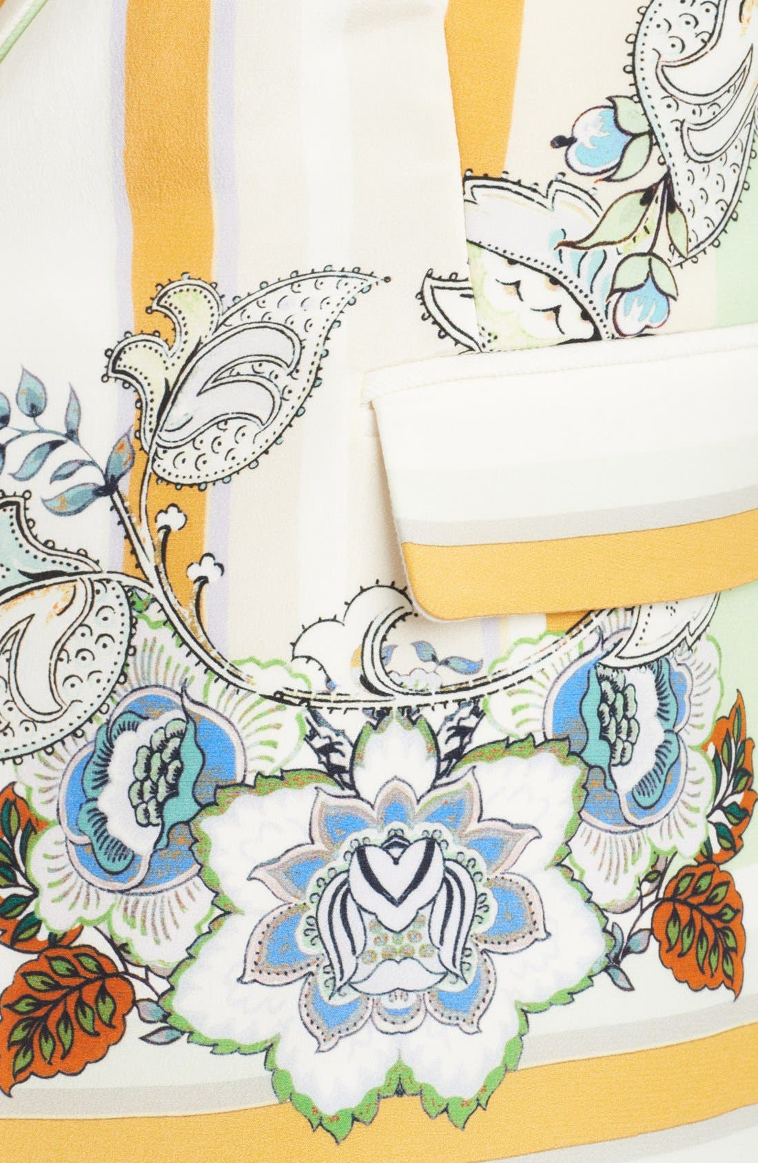 Alternate Image 3  - Roberto Cavalli Print Panel Linen Blazer