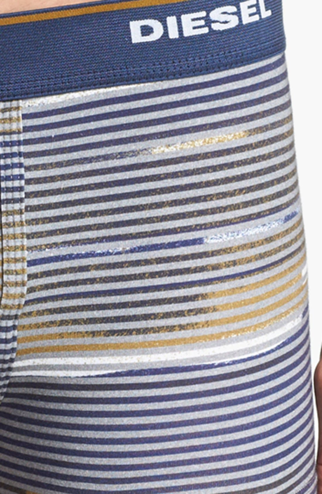 Alternate Image 3  - DIESEL® 'Divine' Stripe Boxer Briefs