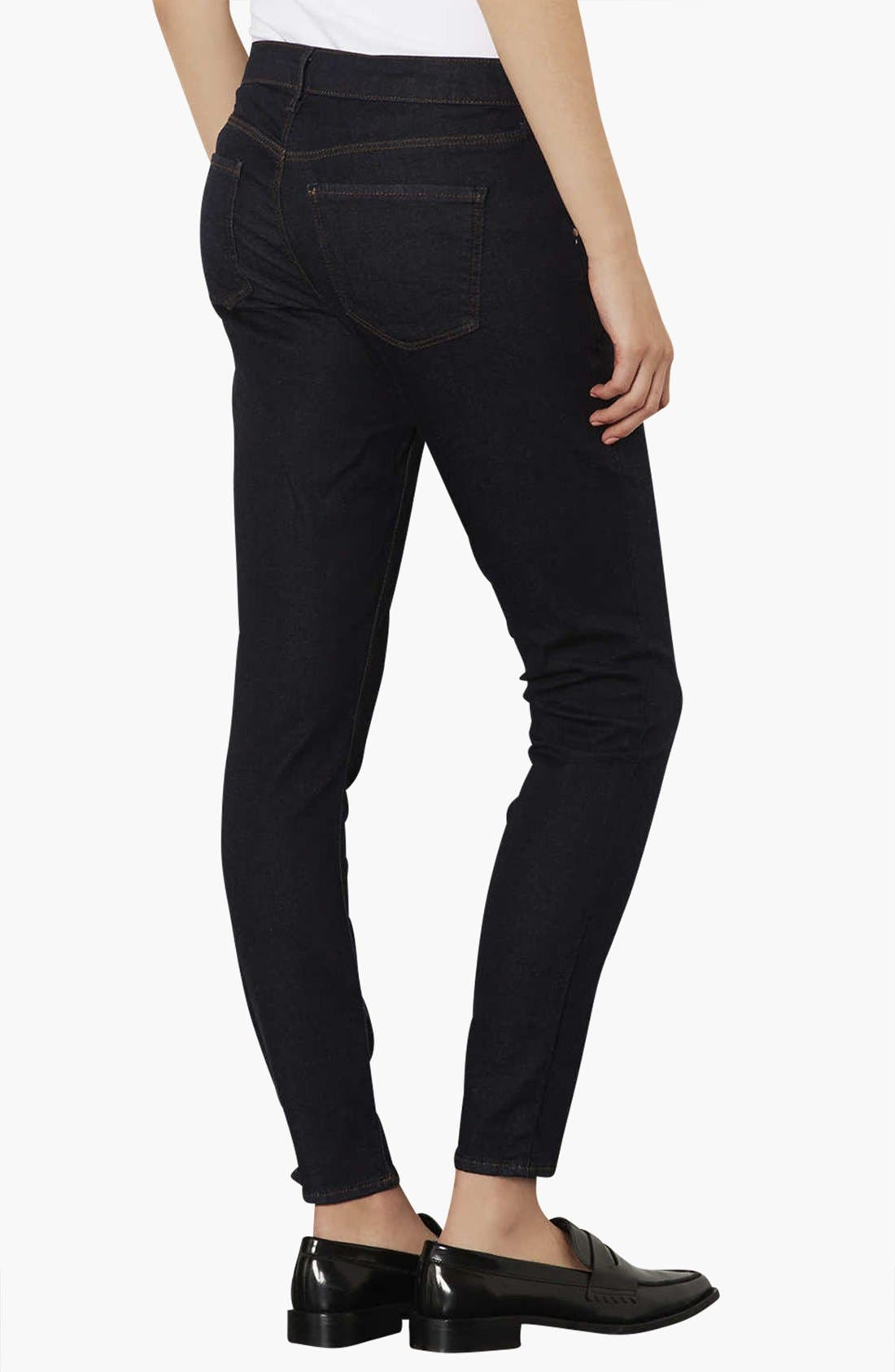 Alternate Image 2  - Topshop 'Leigh' Maternity Jeans (Indigo)