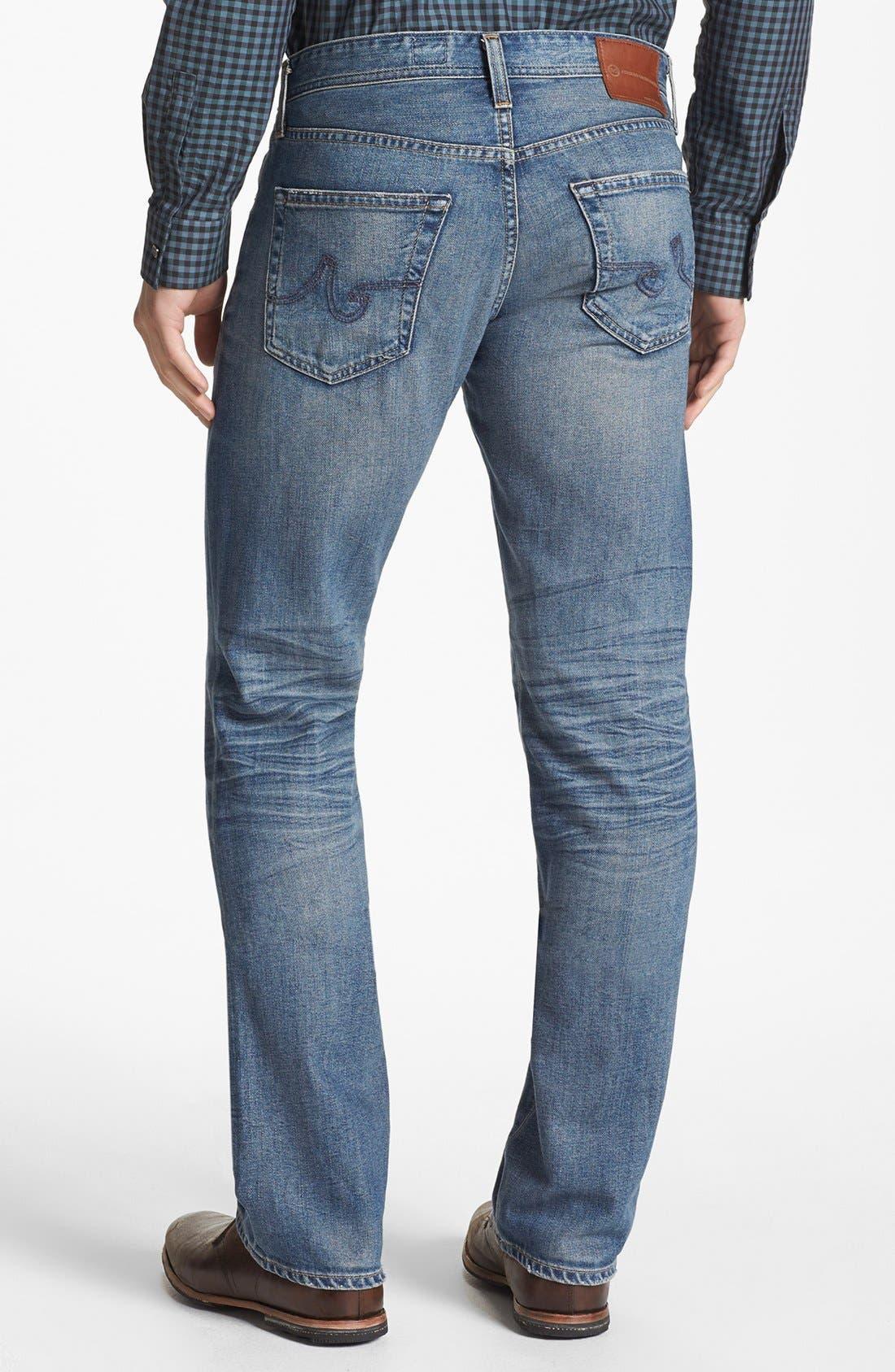 Alternate Image 2  - AG 'Protégé' Straight Leg Jeans (16 Year Fuse)