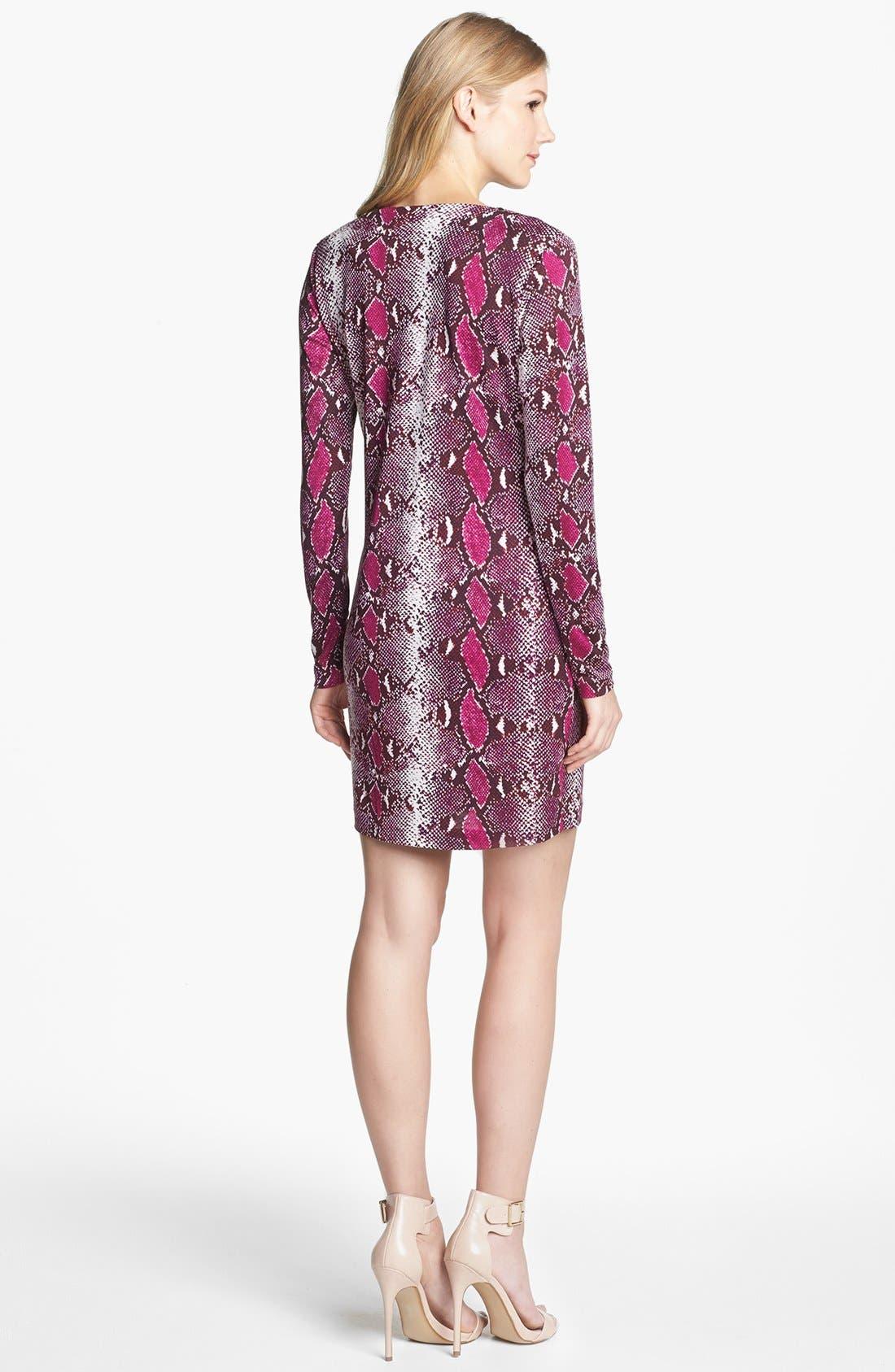 Alternate Image 2  - Diane von Furstenberg 'Reina' Snake Print Silk Shift Dress