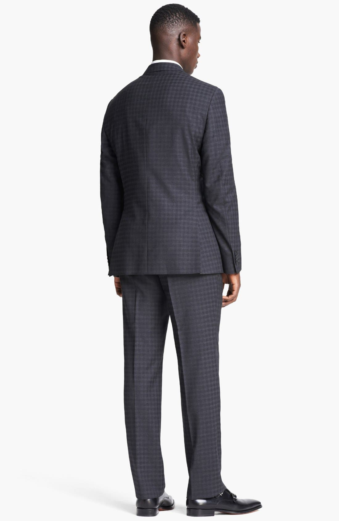 Alternate Image 3  - Z Zegna 'City' Dark Grey Check Wool Suit