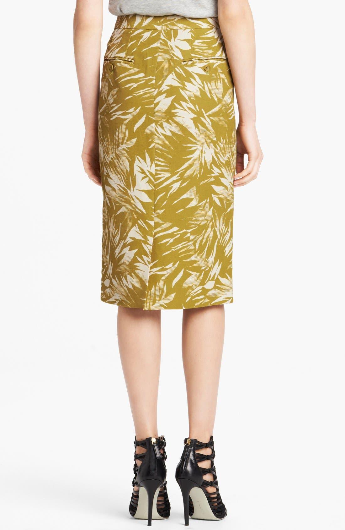 Alternate Image 2  - Jason Wu Botanical Print Linen Crepe Skirt