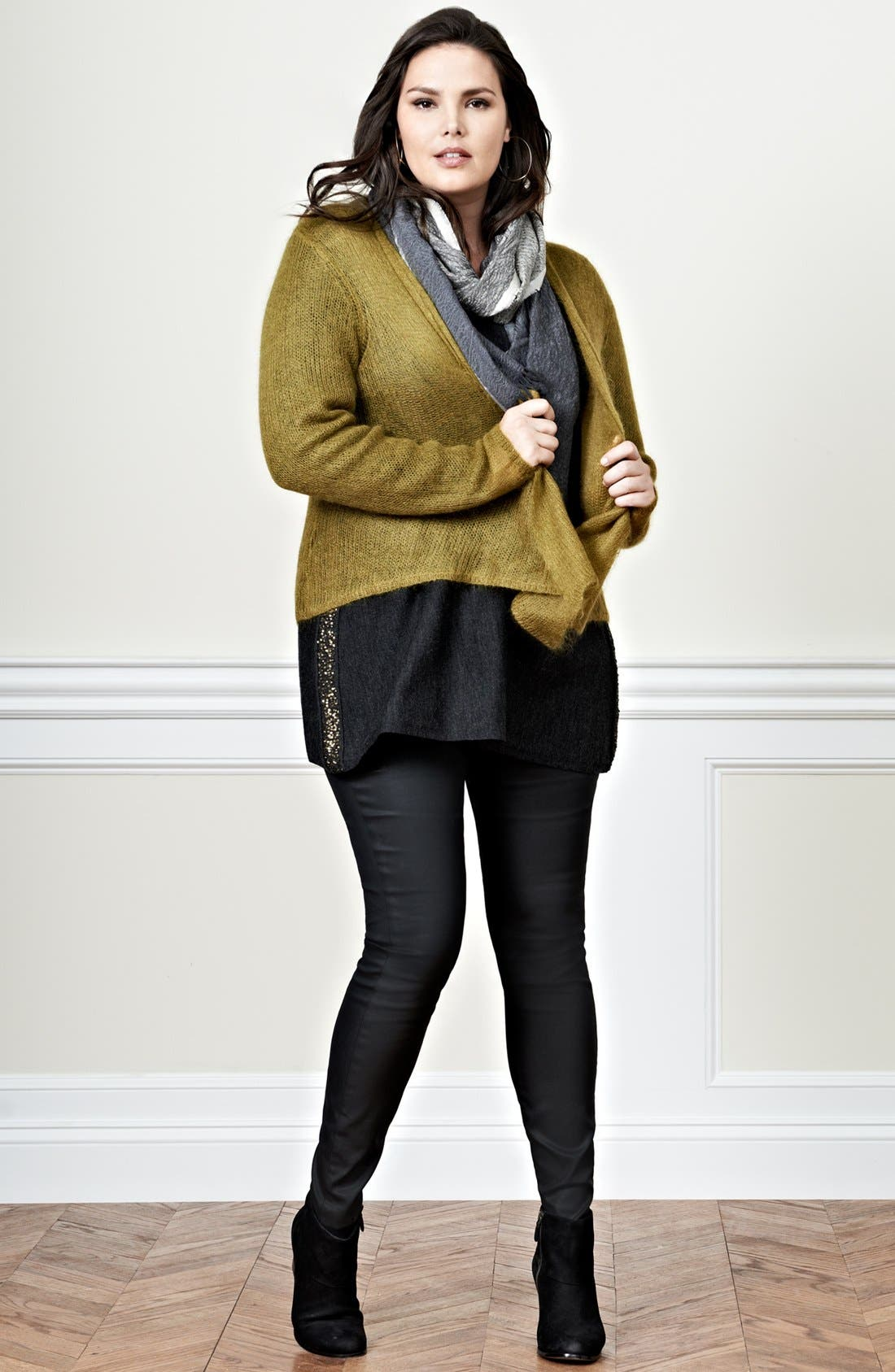 Alternate Image 1 Selected - Eileen Fisher Cardigan, Sweater & Jeans