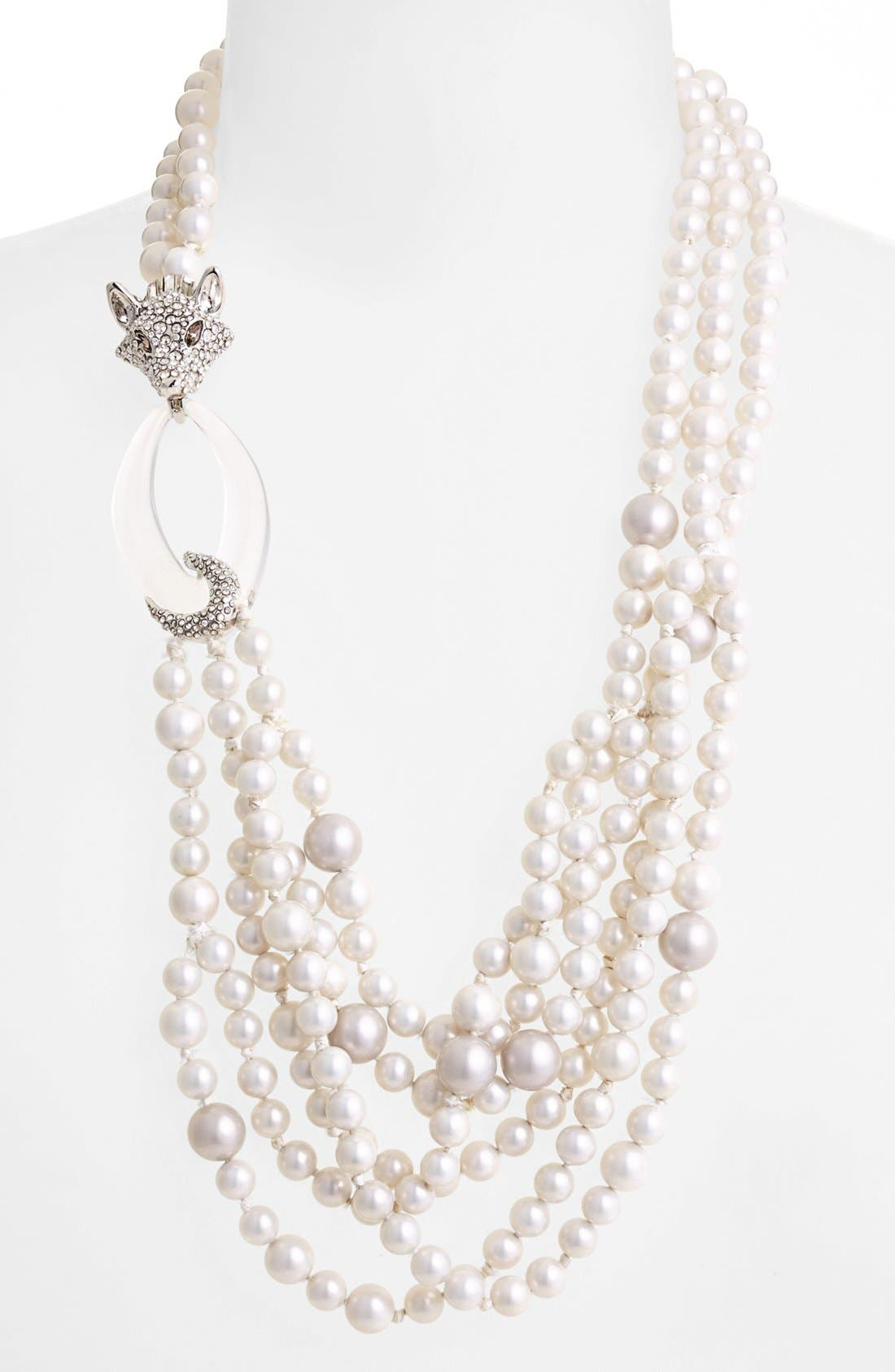 Main Image - Alexis Bittar 'Lucite® - Winter Deco' Multistrand Necklace
