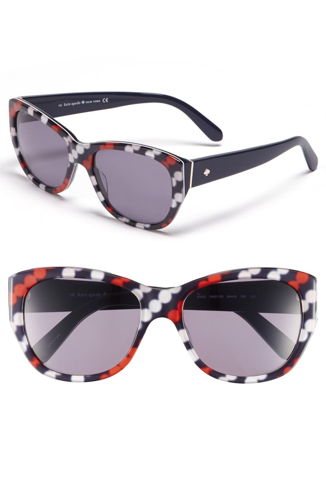 Alternate Image 1 Selected - kate spade new york 'kia' 54mm cat eye sunglasses