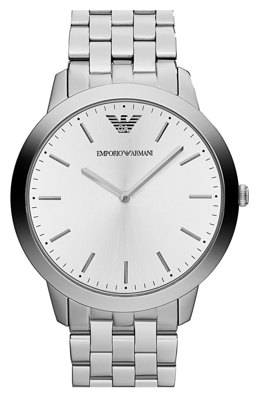 Alternate Image 1 Selected - Emporio Armani Round Bracelet Watch, 42mm