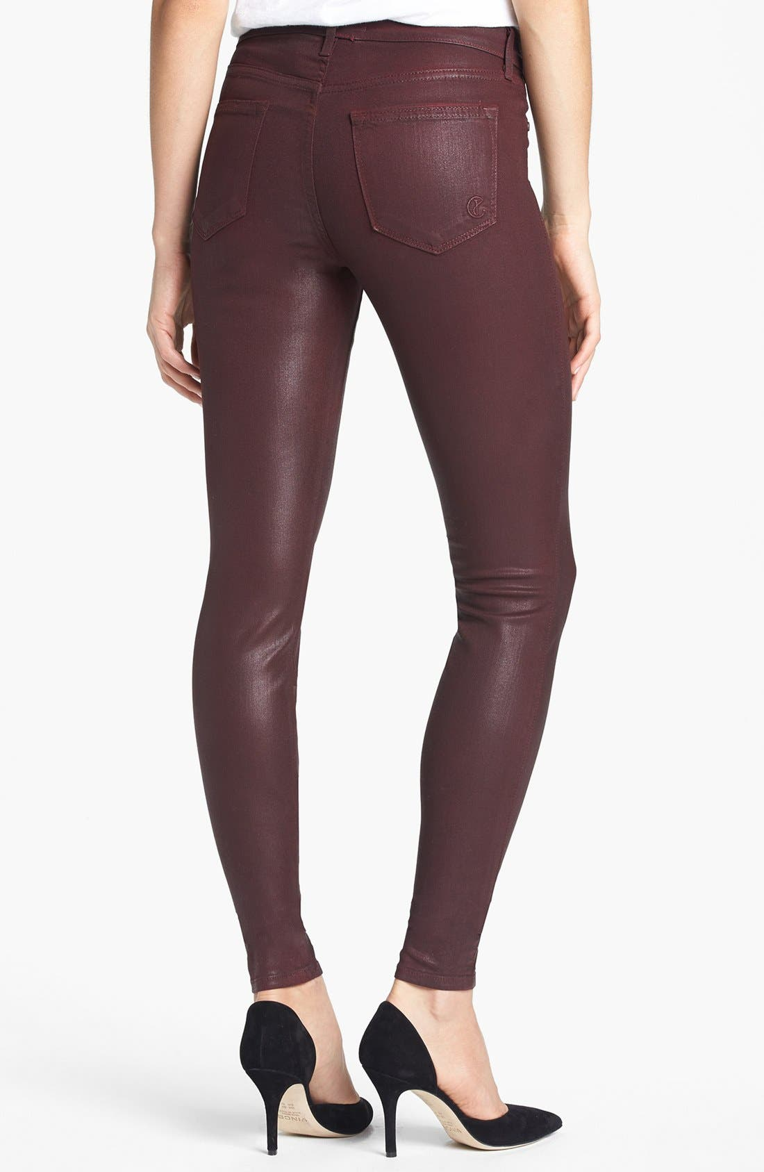 Alternate Image 2  - CJ by Cookie Johnson 'Joy' Coated Stretch Skinny Jeans