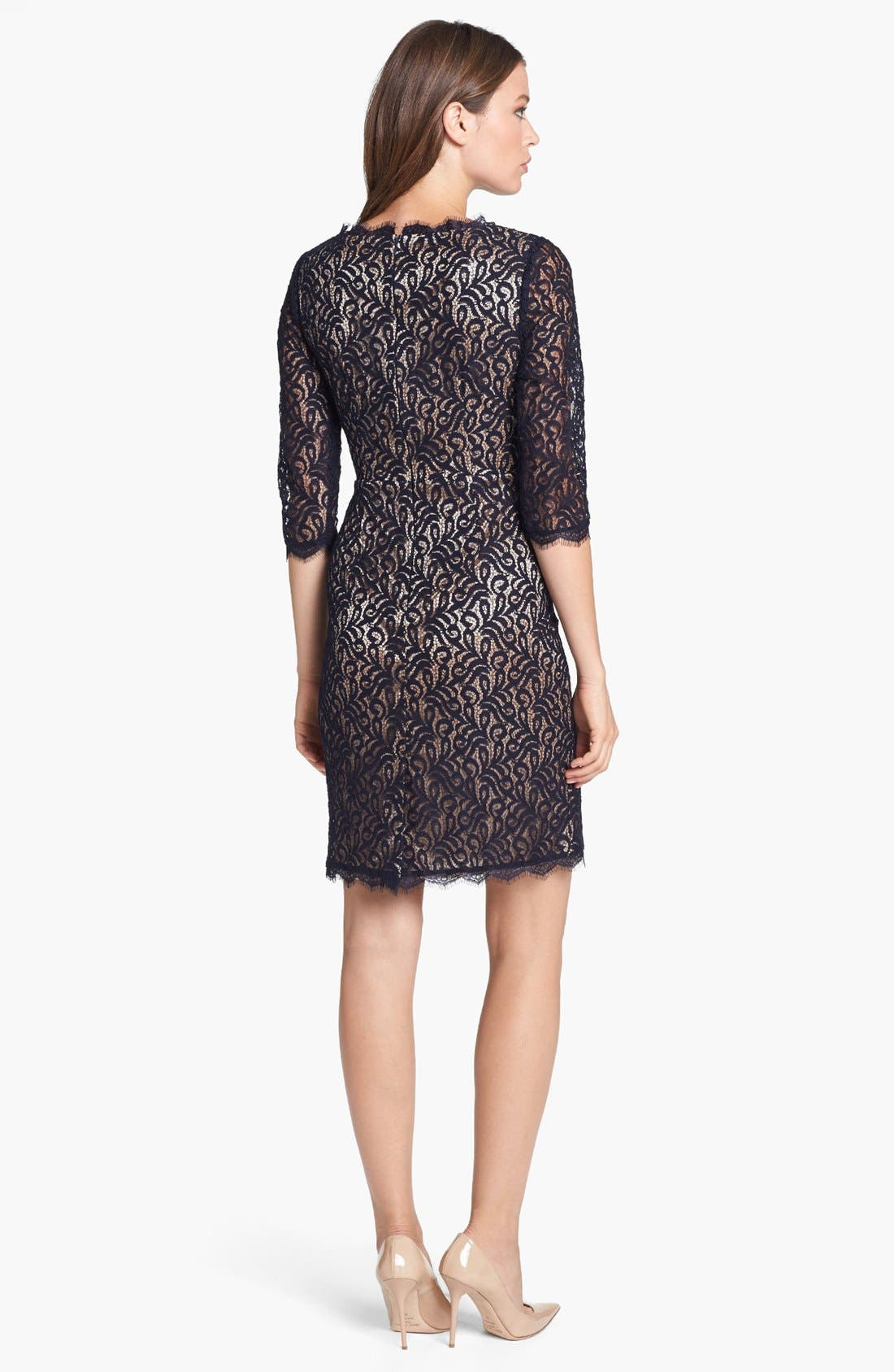 Alternate Image 2  - Adrianna Papell Lace Faux Wrap Dress