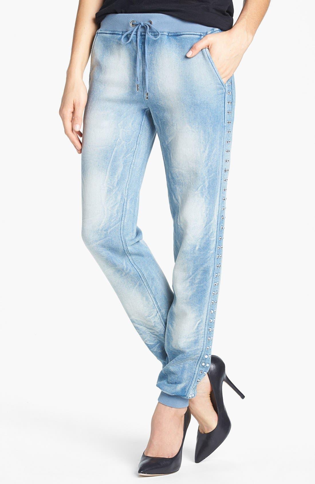 Alternate Image 1 Selected - MICHAEL Michael Kors Studded Drawstring Waist Knit Pants