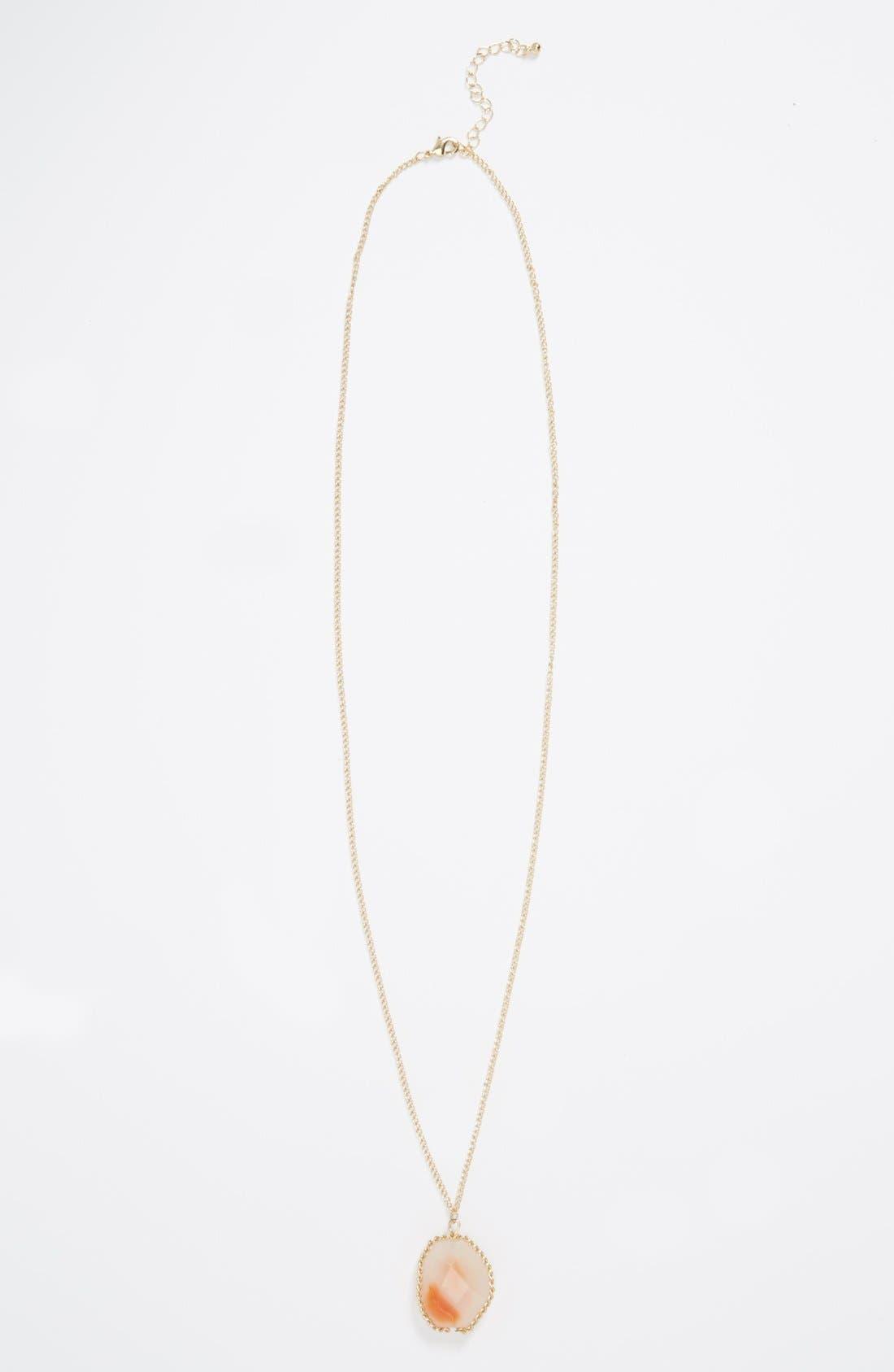 Main Image - Carole Stone Pendant Necklace (Juniors)