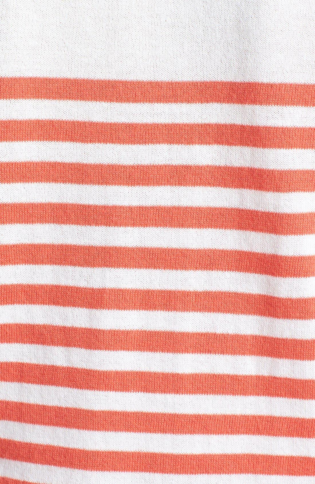 Alternate Image 3  - Hinge® Mix Stripe Cotton Sweater