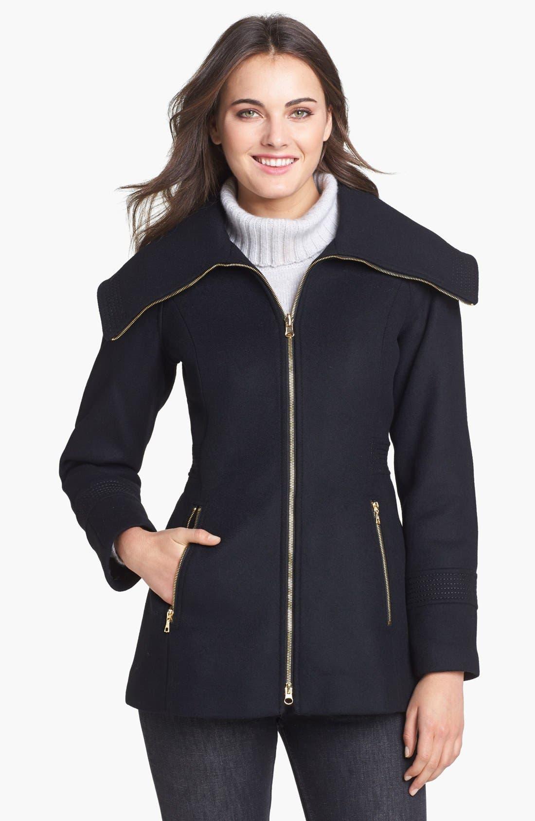 Alternate Image 1 Selected - Trina Turk 'Stella' Oversized Collar Coat