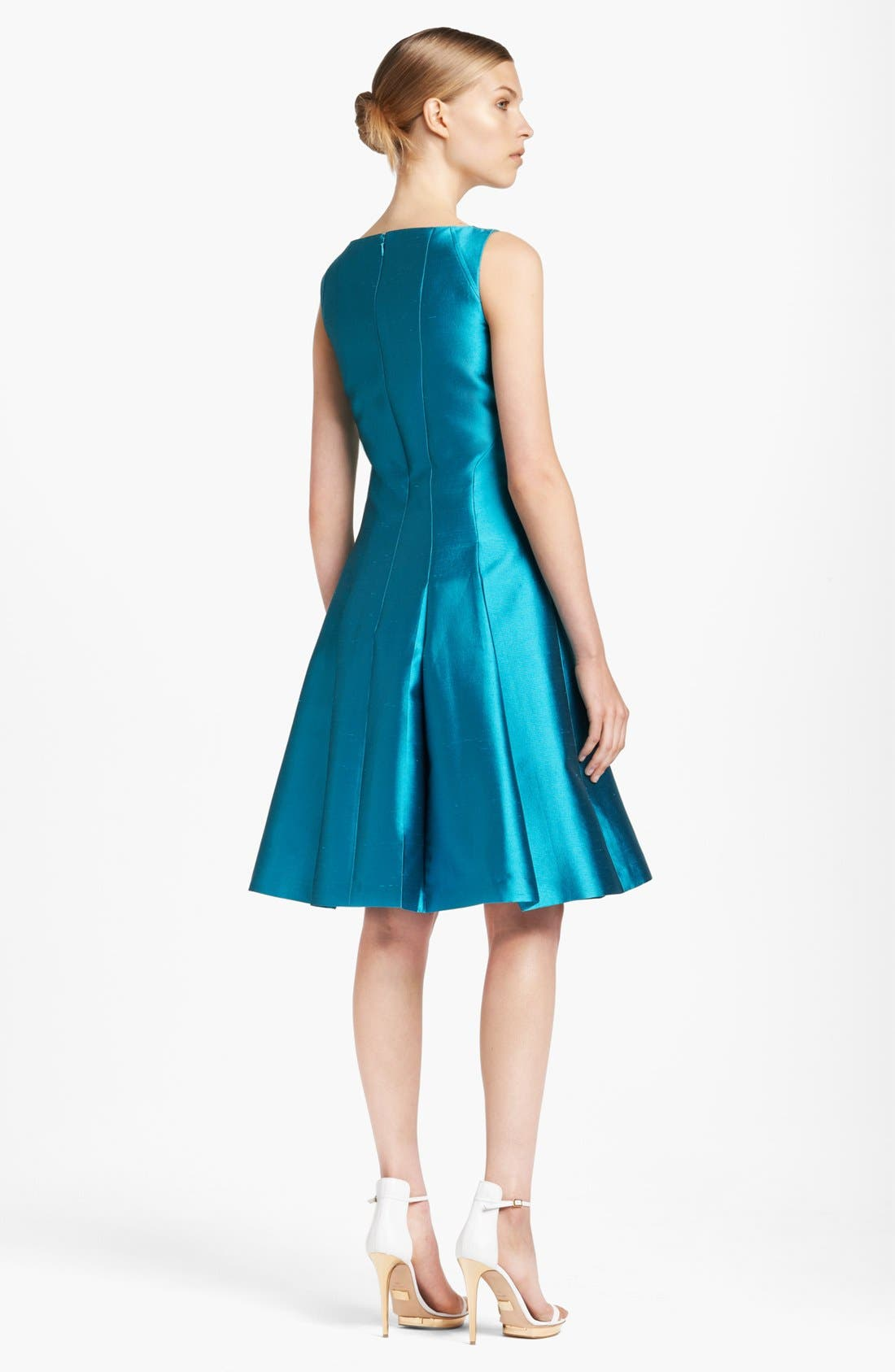 Alternate Image 2  - Michael Kors Seamed Silk & Wool Dress