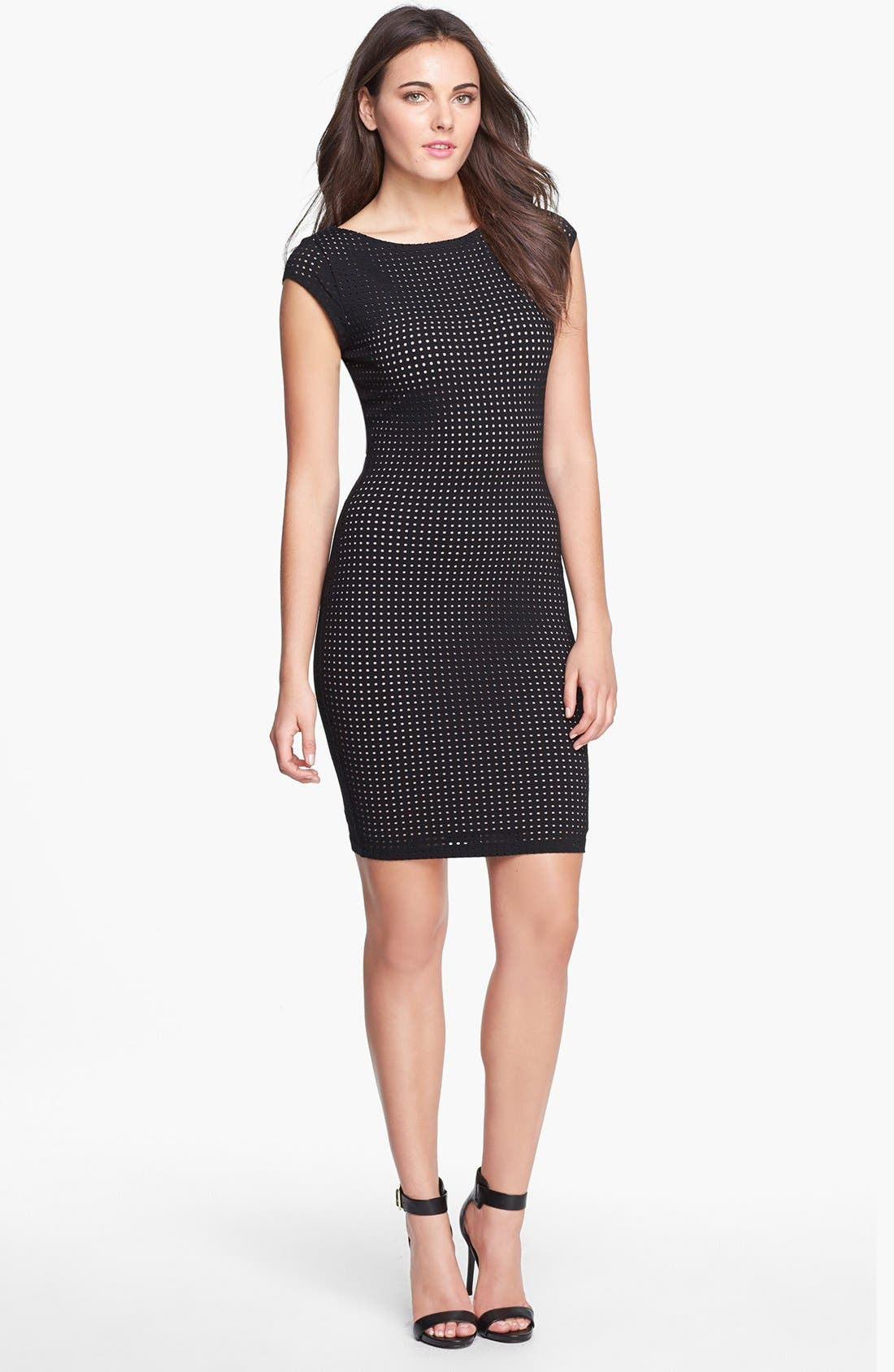 Main Image - Tart 'Remi' Perforated Ponte Knit Body-Con Dress