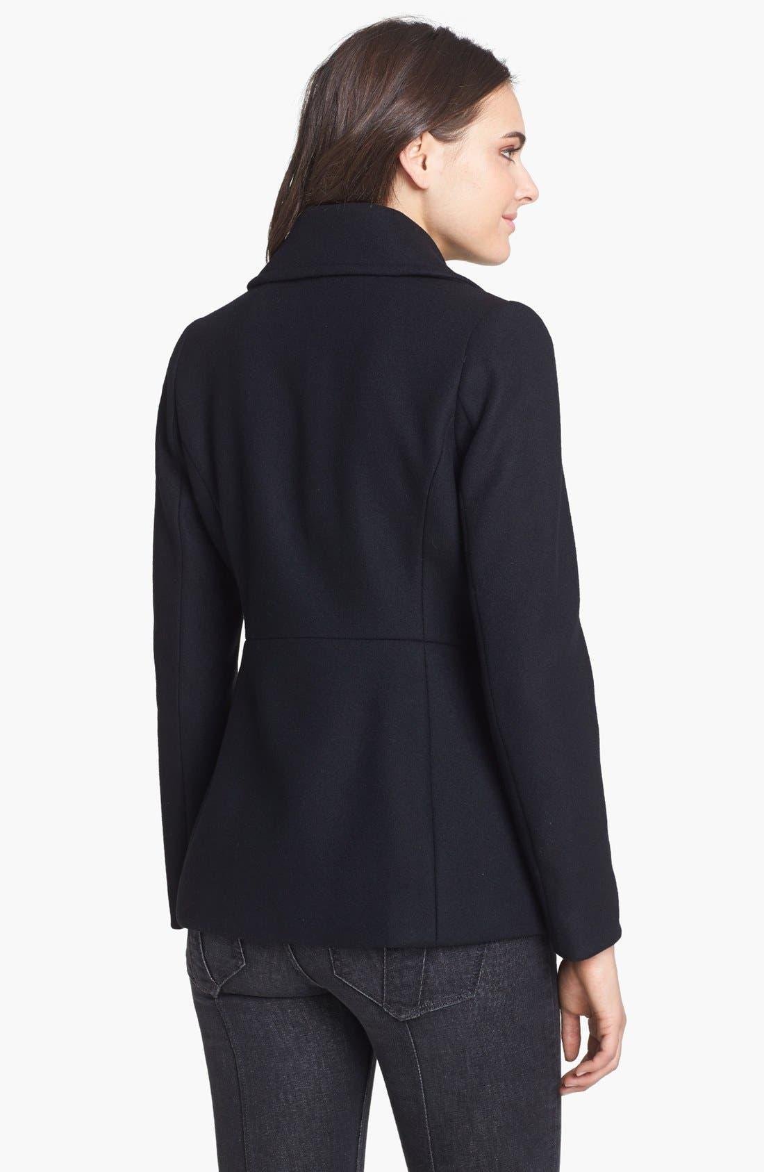 Alternate Image 2  - Kristen Blake Asymmetrical Wool Blend Coat (Nordstrom Exclusive)