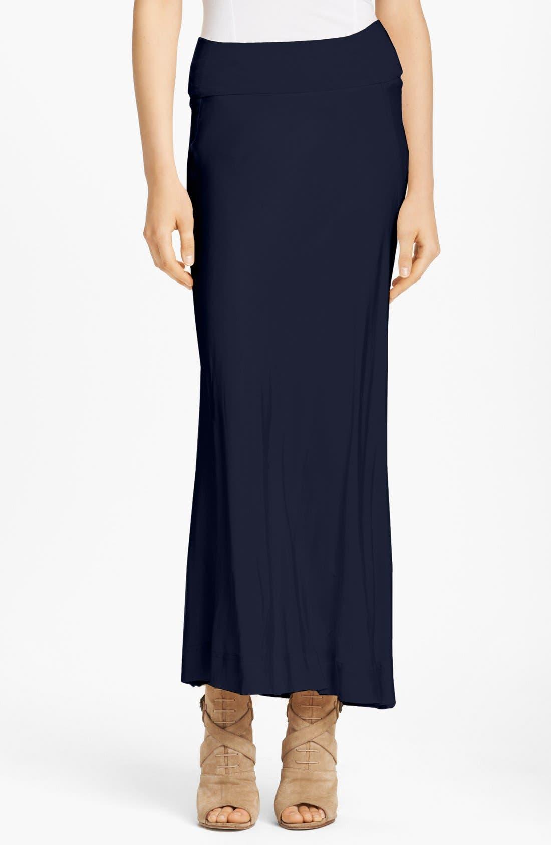 Main Image - Donna Karan Casual Luxe Satin & Jersey Bias Cut Skirt