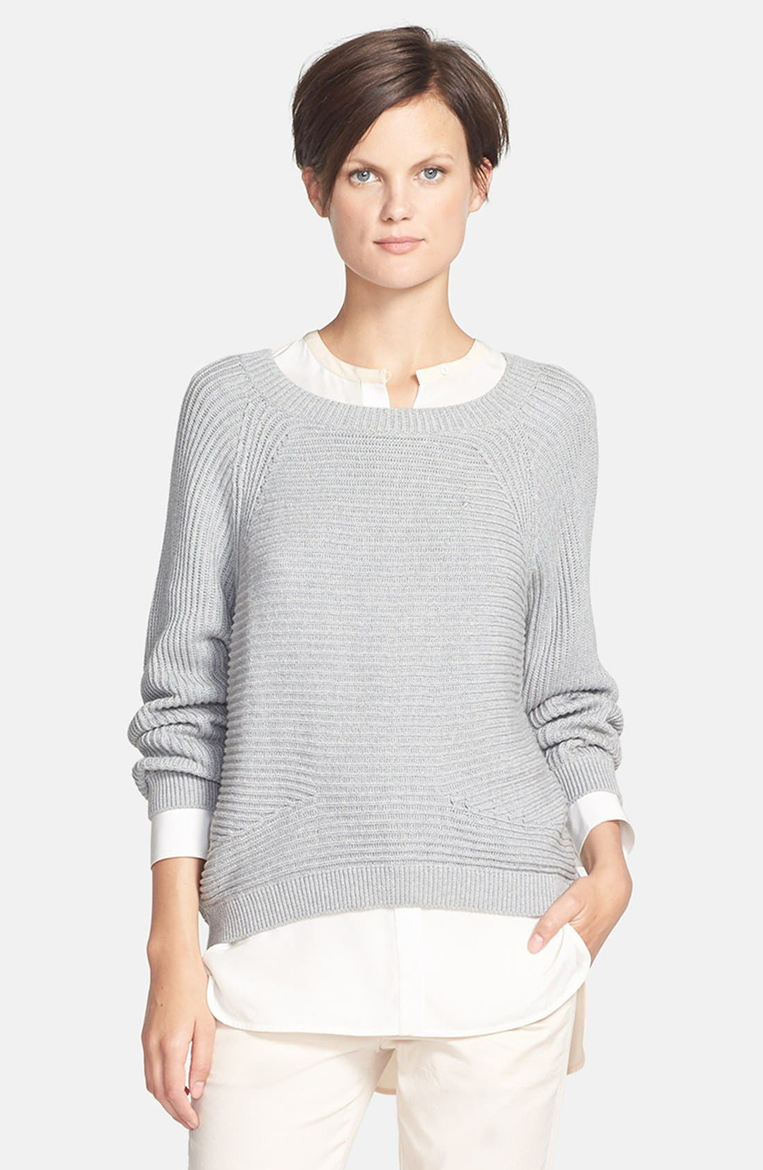 Main Image - Vince 'Directional' Raglan Ribbed Sweater