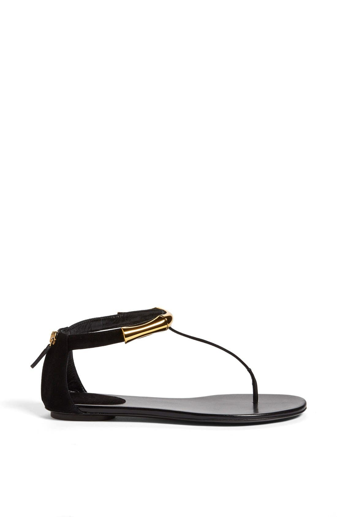 Alternate Image 4  - Gucci 'Coraline' Metal T-Strap Sandal