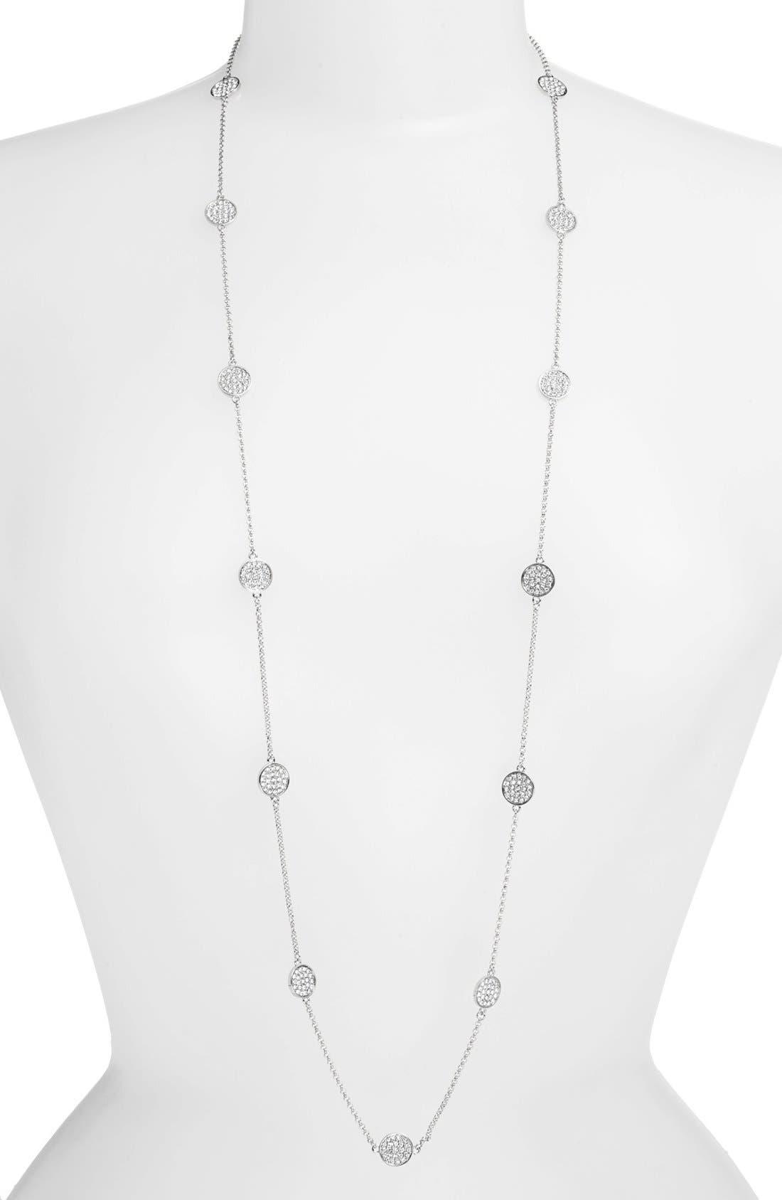 Alternate Image 1 Selected - Lauren Ralph Lauren Pavé Disc Station Necklace