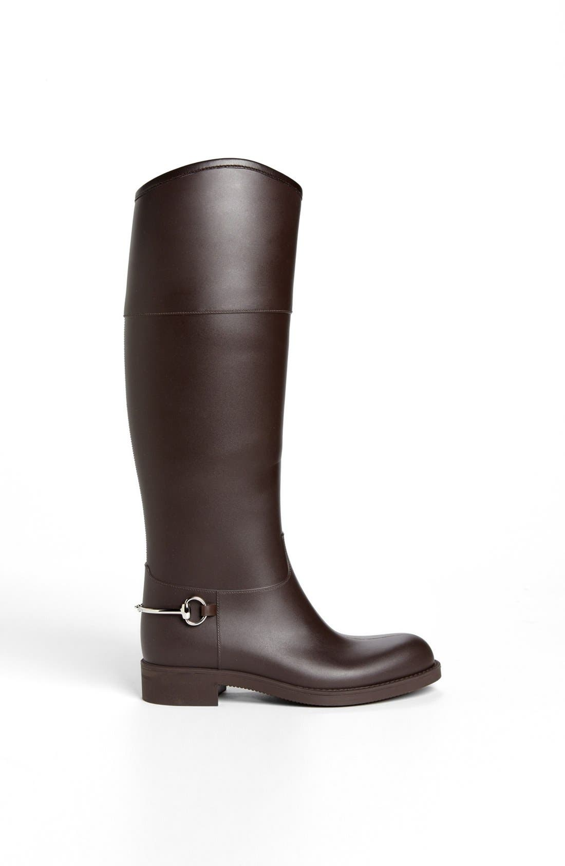 Alternate Image 4  - Gucci Rubber Waterproof Rain Boot