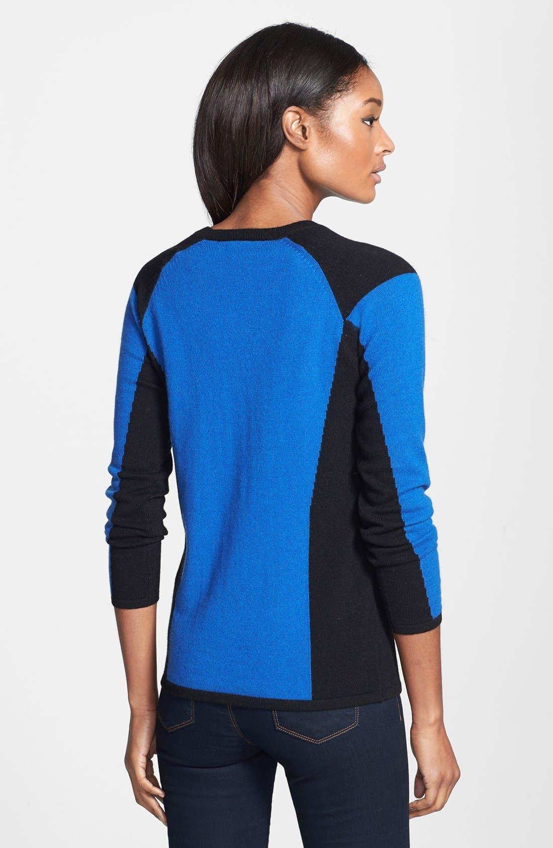 Alternate Image 2  - Lauren Hansen Colorblock Cashmere Pullover