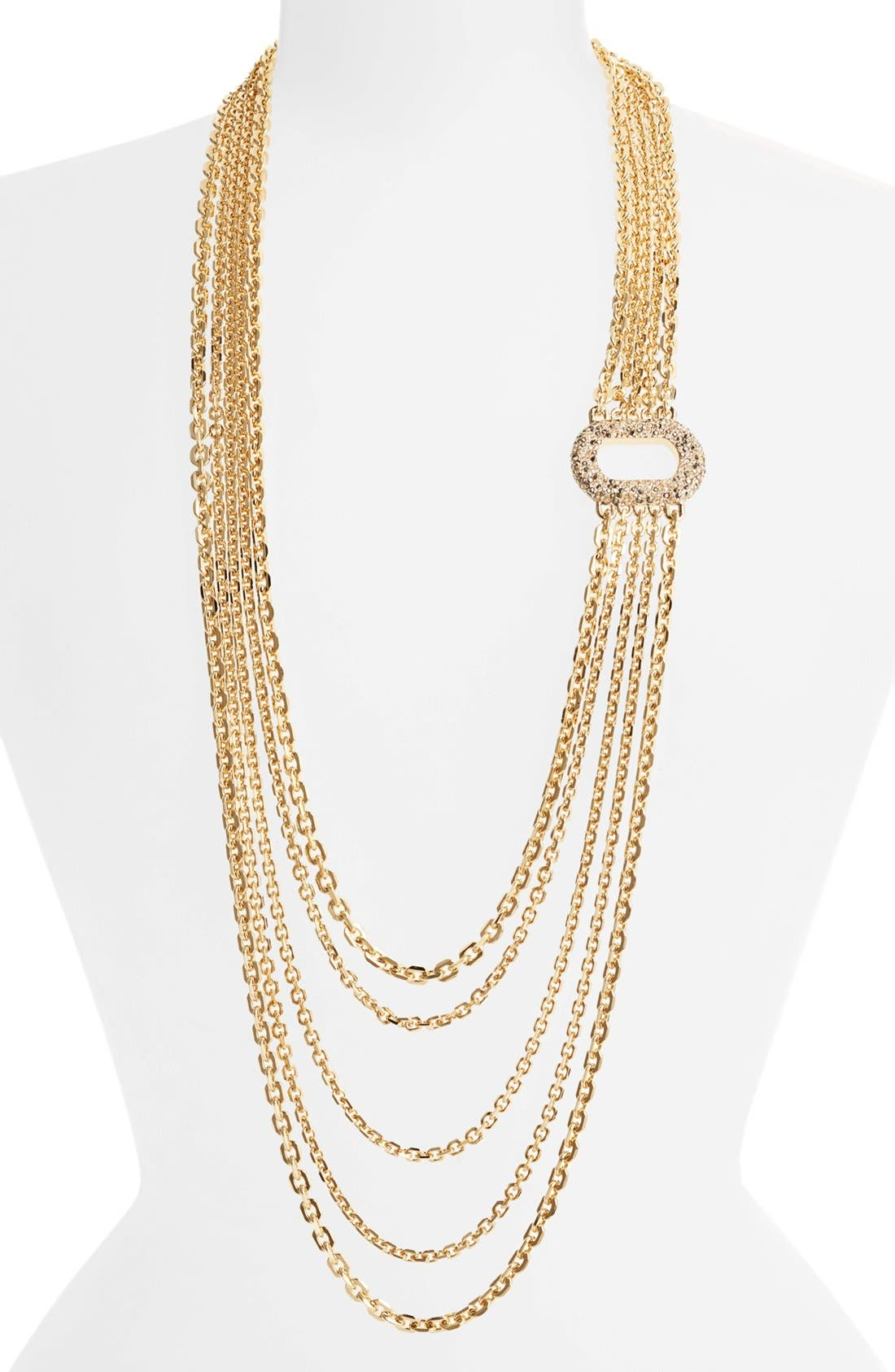 Alternate Image 1 Selected - St. John Collection Crystal Station Multistrand Necklace