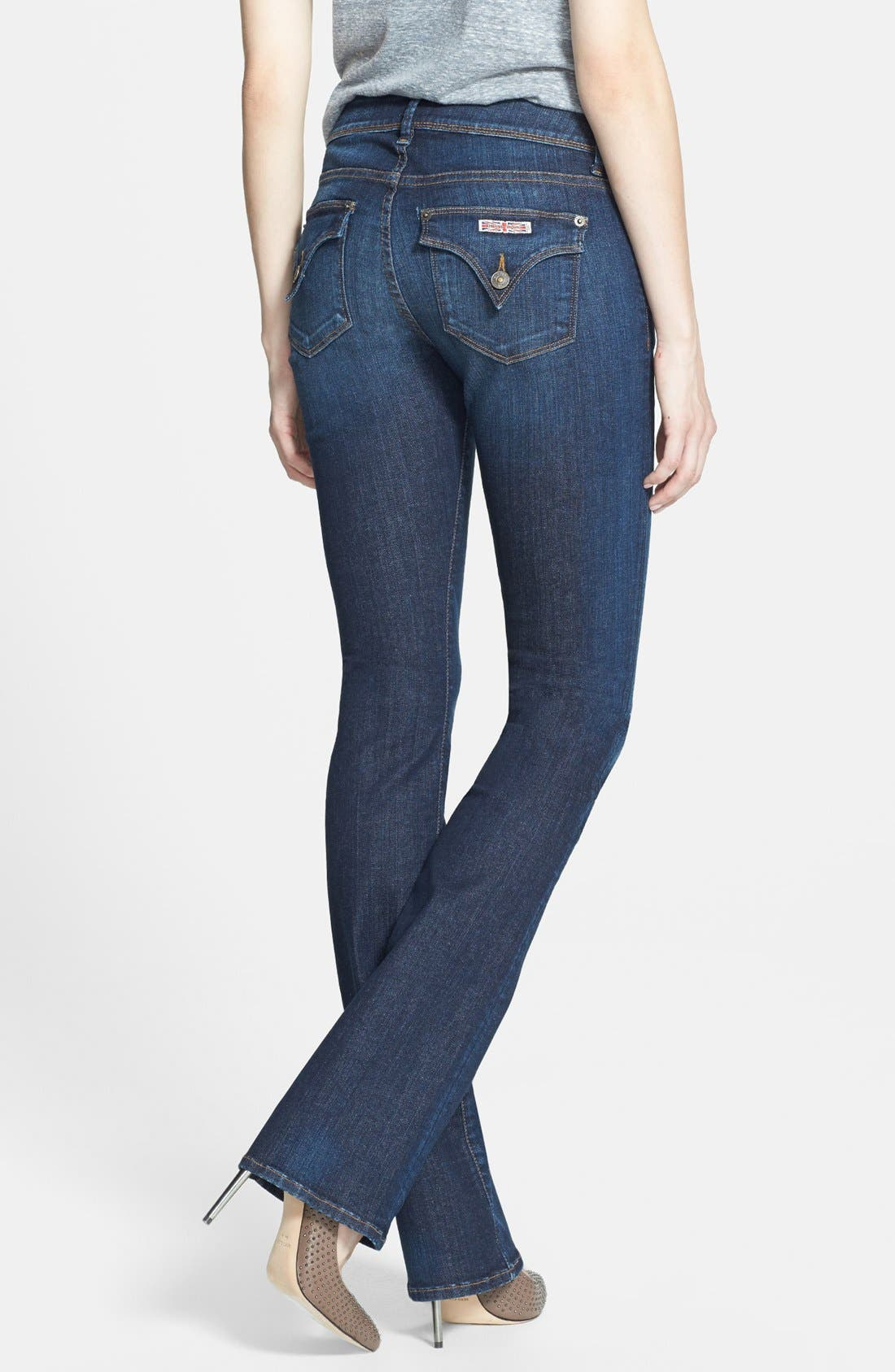 Alternate Image 2  - Hudson Jeans 'Beth' Mid Rise Baby Bootcut Jeans (Nightfall)