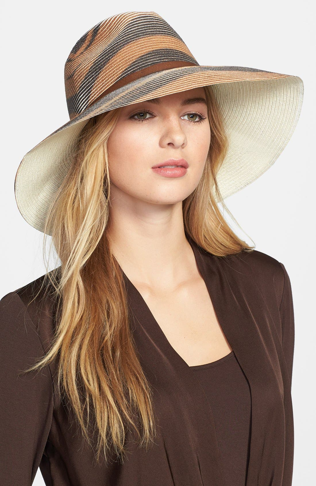 Alternate Image 1 Selected - Nordstrom Zebra Stripe Fedora