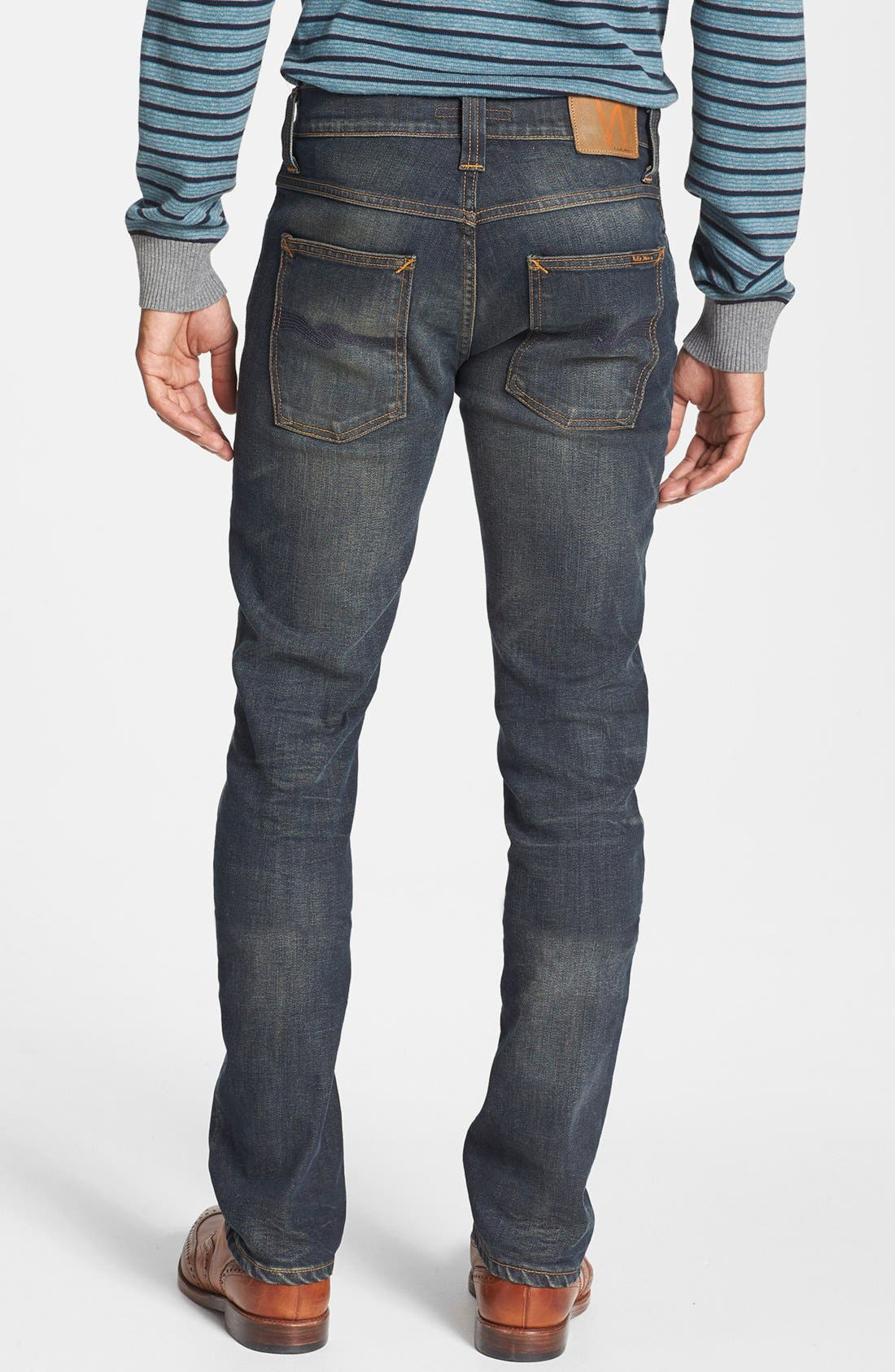 Main Image - Nudie Jeans 'Thin Finn' Skinny Fit Jeans (Organic Worn In Pepper)