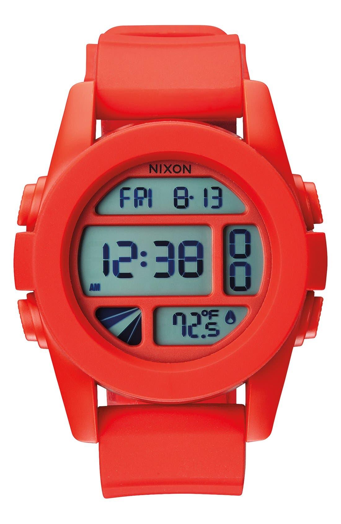 Alternate Image 2  - Nixon 'The Unit' Round Digital Watch, 44mm