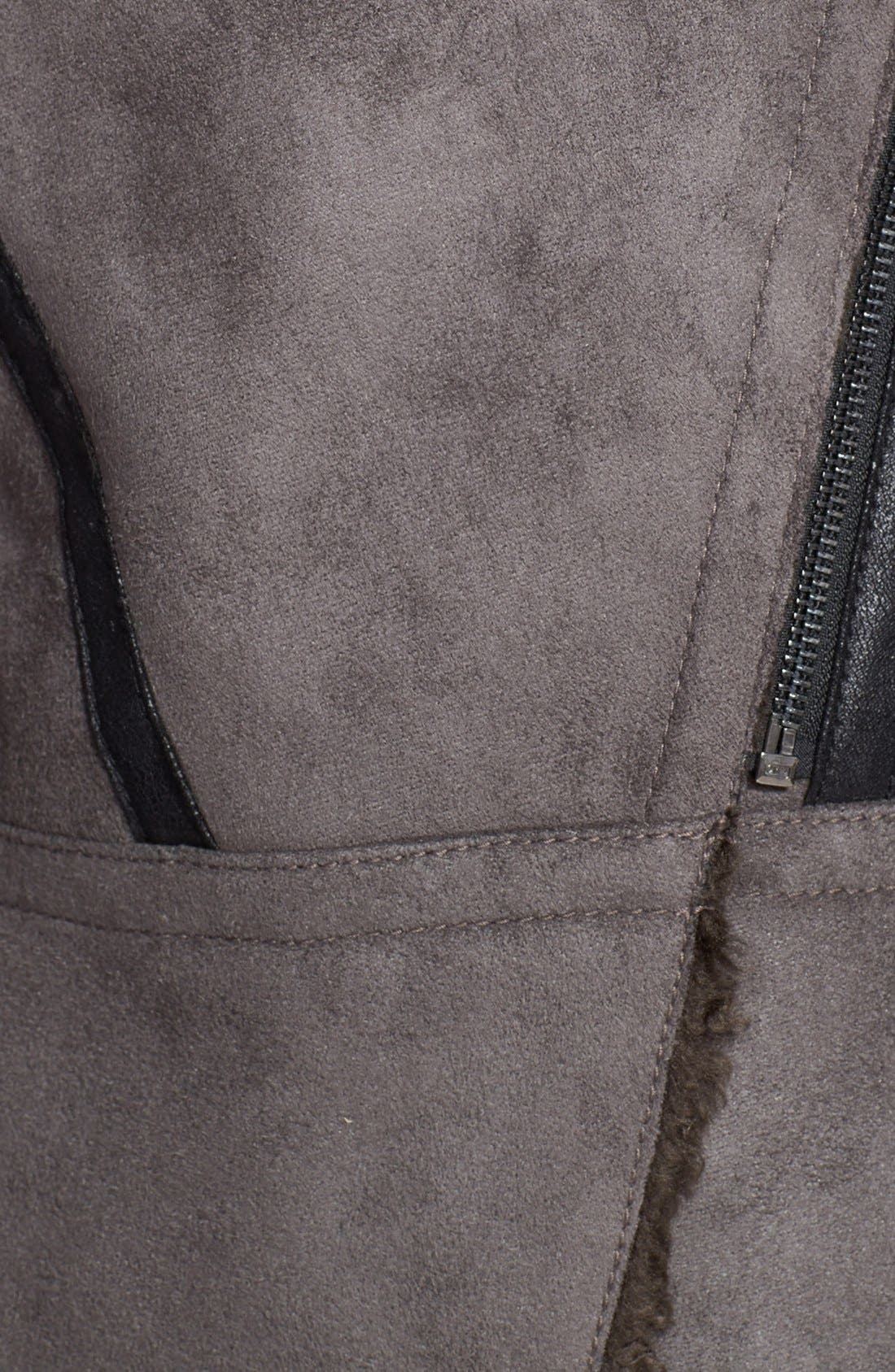 Alternate Image 3  - Laundry by Shelli Segal Faux Shearling Asymmetrical Jacket (Online Only)