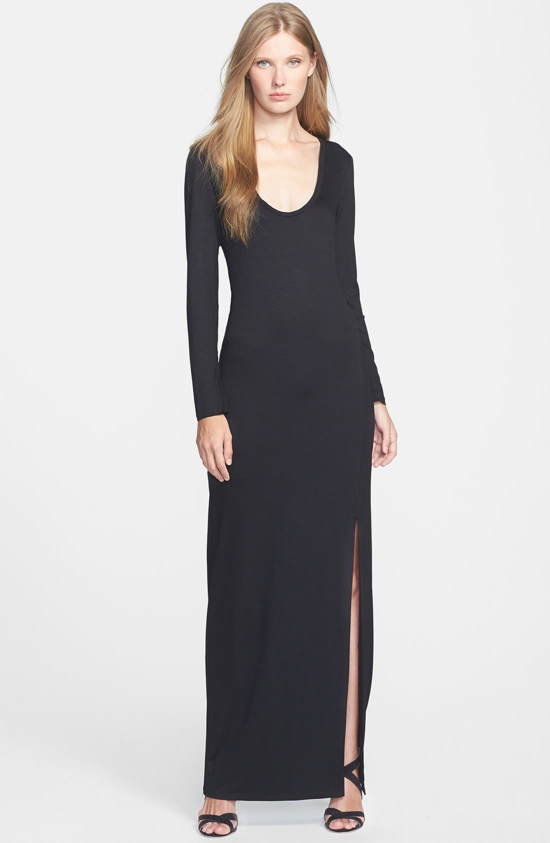 Alternate Image 1 Selected - Trina Turk 'Alani' Long Sleeve Jersey Maxi Dress
