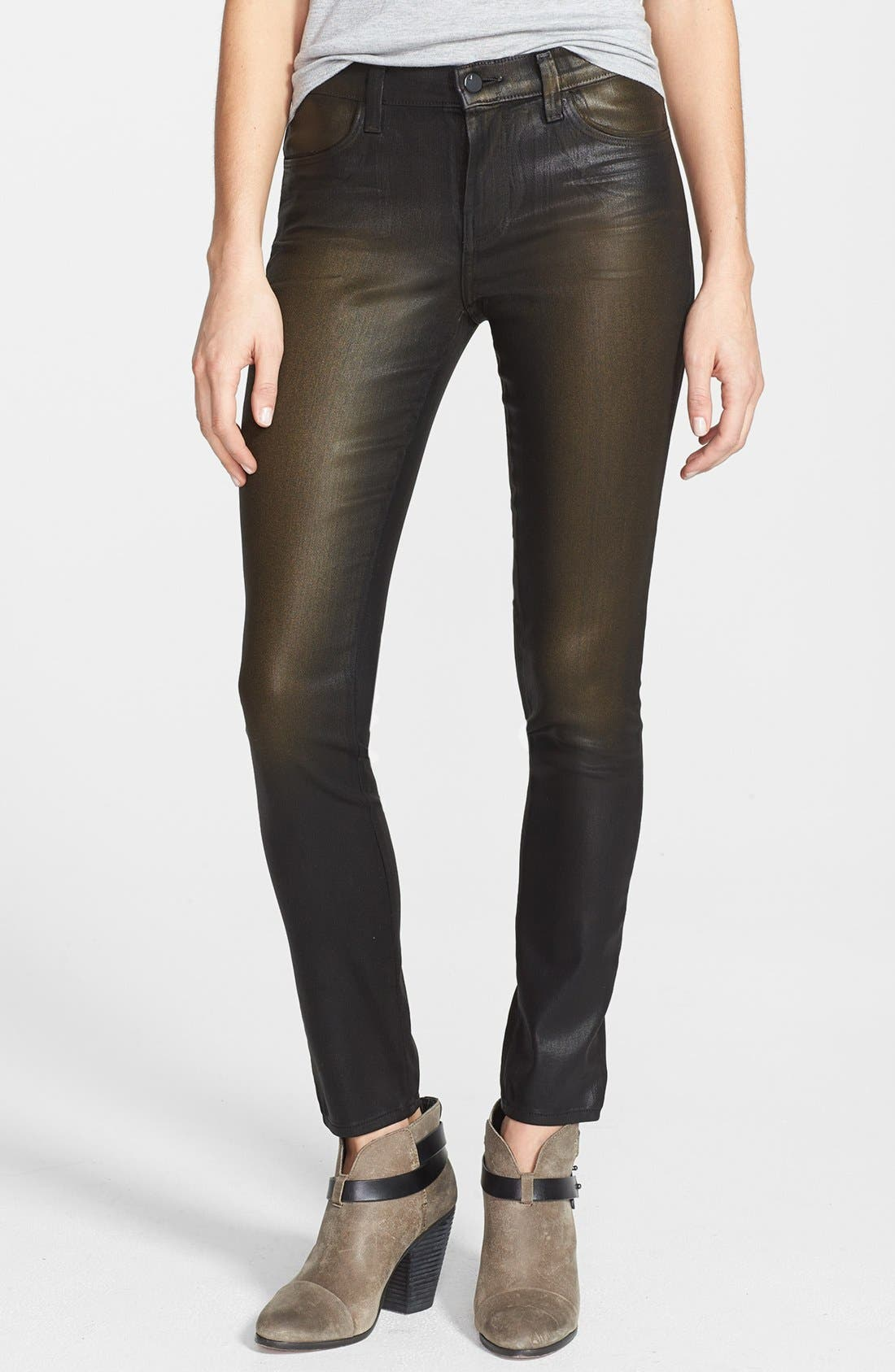 Main Image - J Brand '620' Overdyed Skinny Leg Jeans (Diffused Gold)