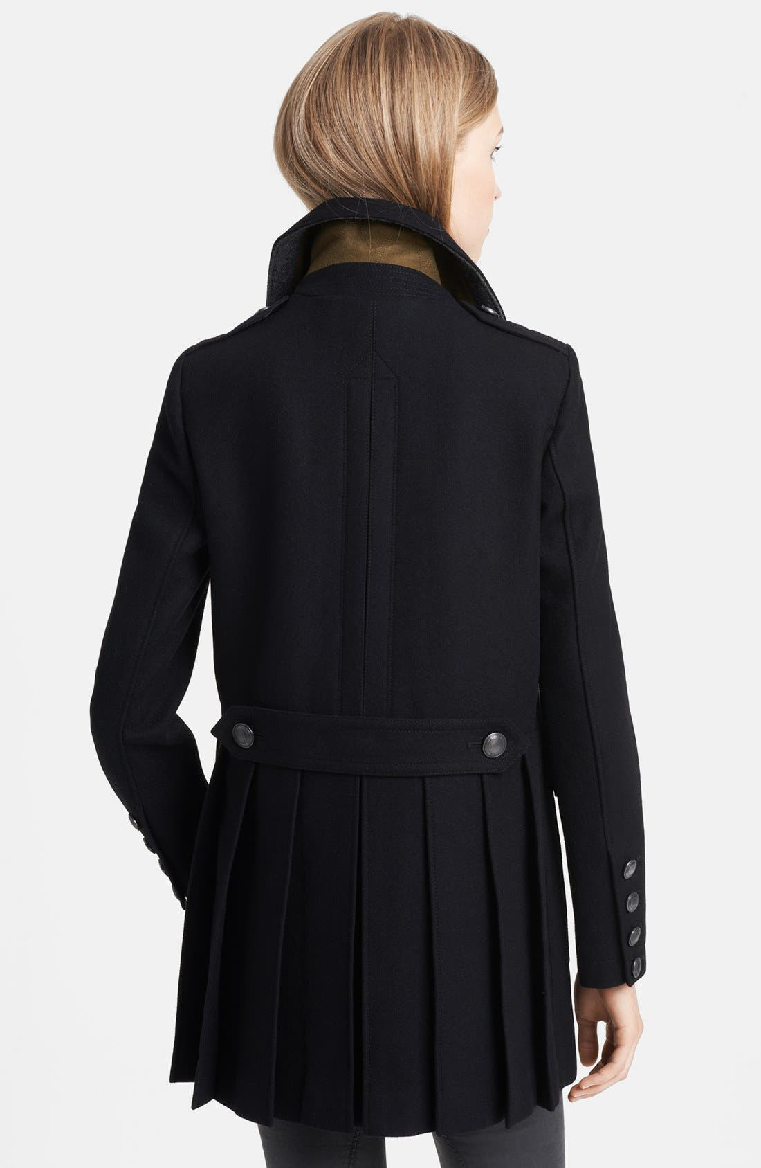 Alternate Image 2  - Burberry Brit 'Bellamy' Double Breasted Peacoat