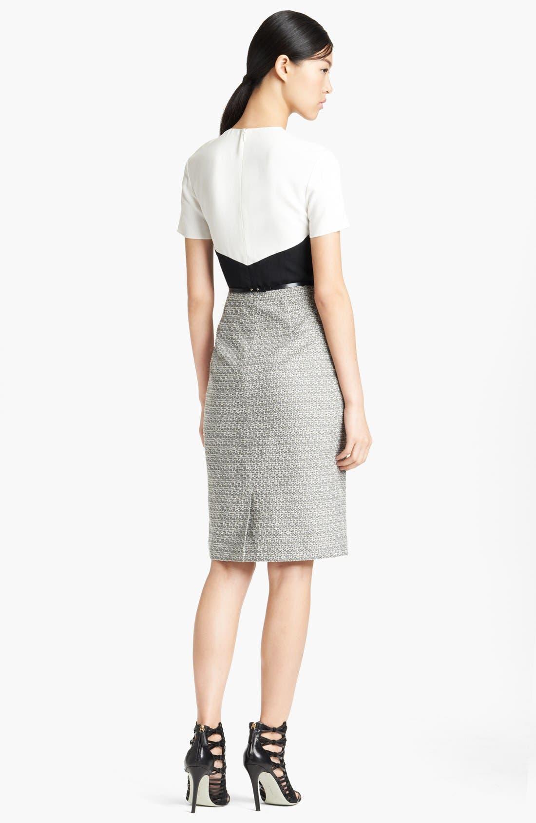 Alternate Image 2  - Jason Wu Colorblock Crepe & Tweed Dress