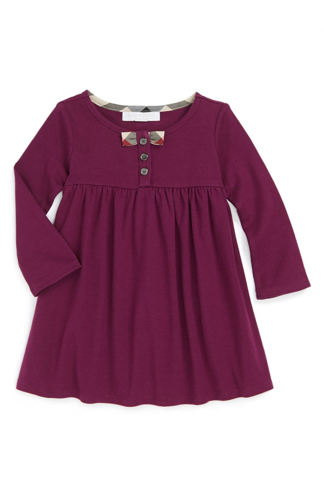 Alternate Image 1 Selected - Burberry Knit Dress (Baby Girls)