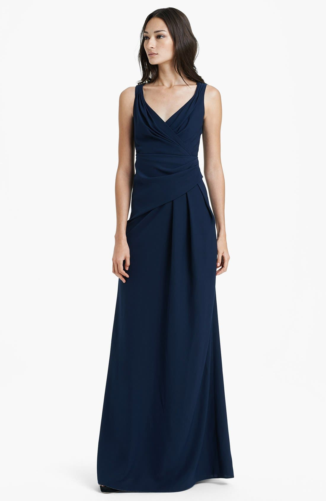 Alternate Image 1 Selected - Armani Collezioni Cross Front Gown