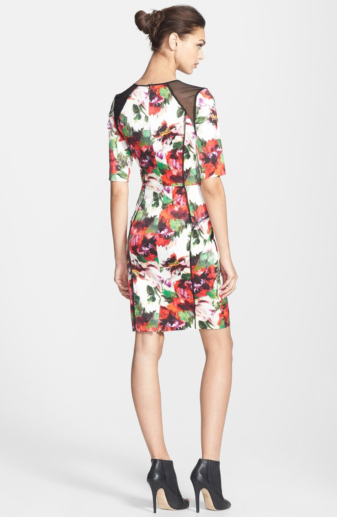Alternate Image 2  - Milly Print Stretch Sheath Dress