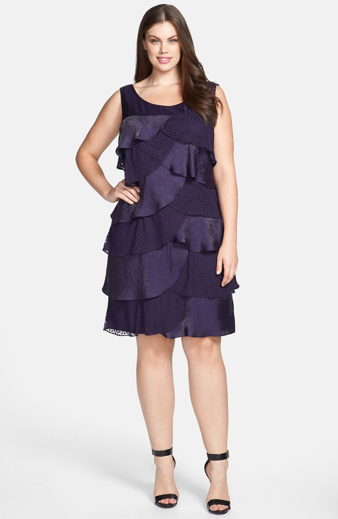 Alternate Image 1 Selected - London Times Tiered Ruffle Dress