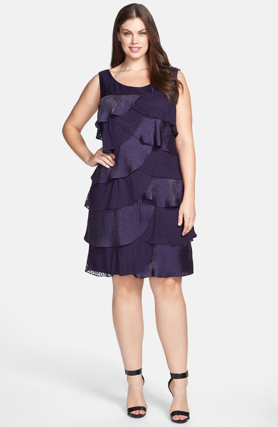 Main Image - London Times Tiered Ruffle Dress
