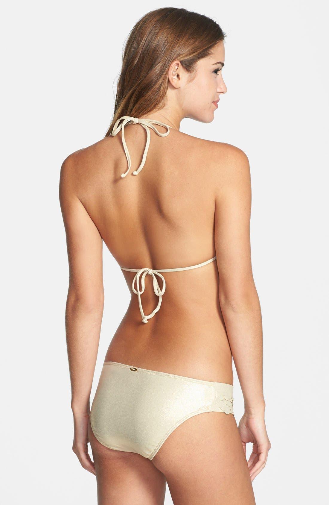 Alternate Image 4  - Luli Fama 'Si Soy Sirena' Triangle Bikini Top