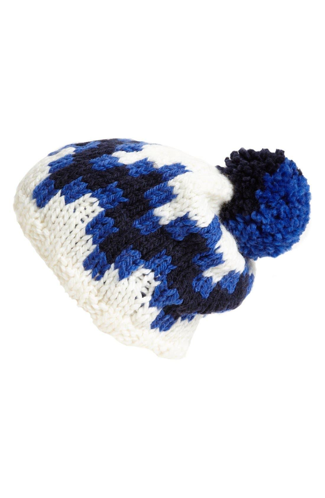 Main Image - Jonathan Adler 'Stepped Chevron' Intarsia Knit Ski Hat
