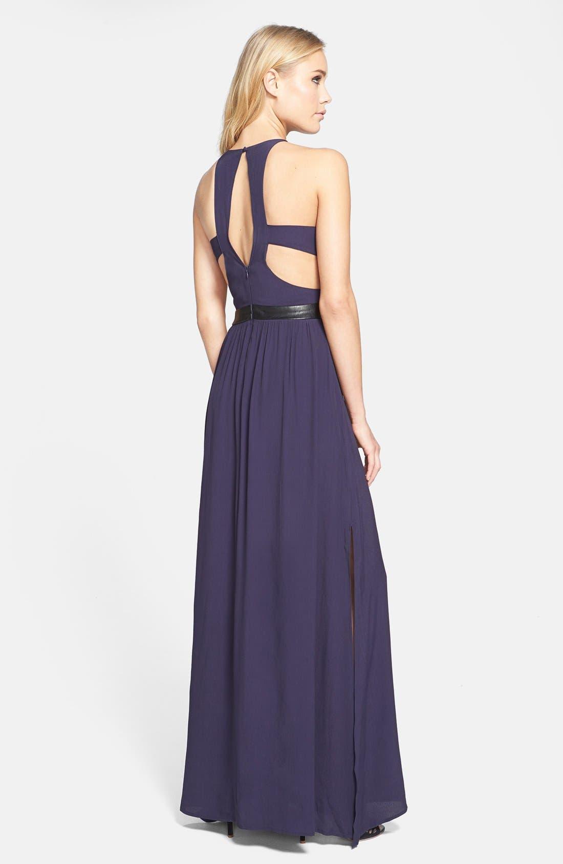 Alternate Image 2  - ASTR Sequin Bodice Cutout Back Maxi Dress