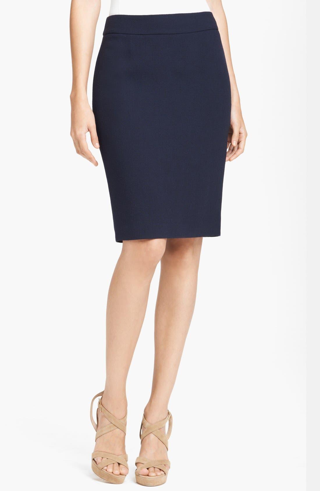 Main Image - Armani Collezioni Gabardine Pencil Skirt