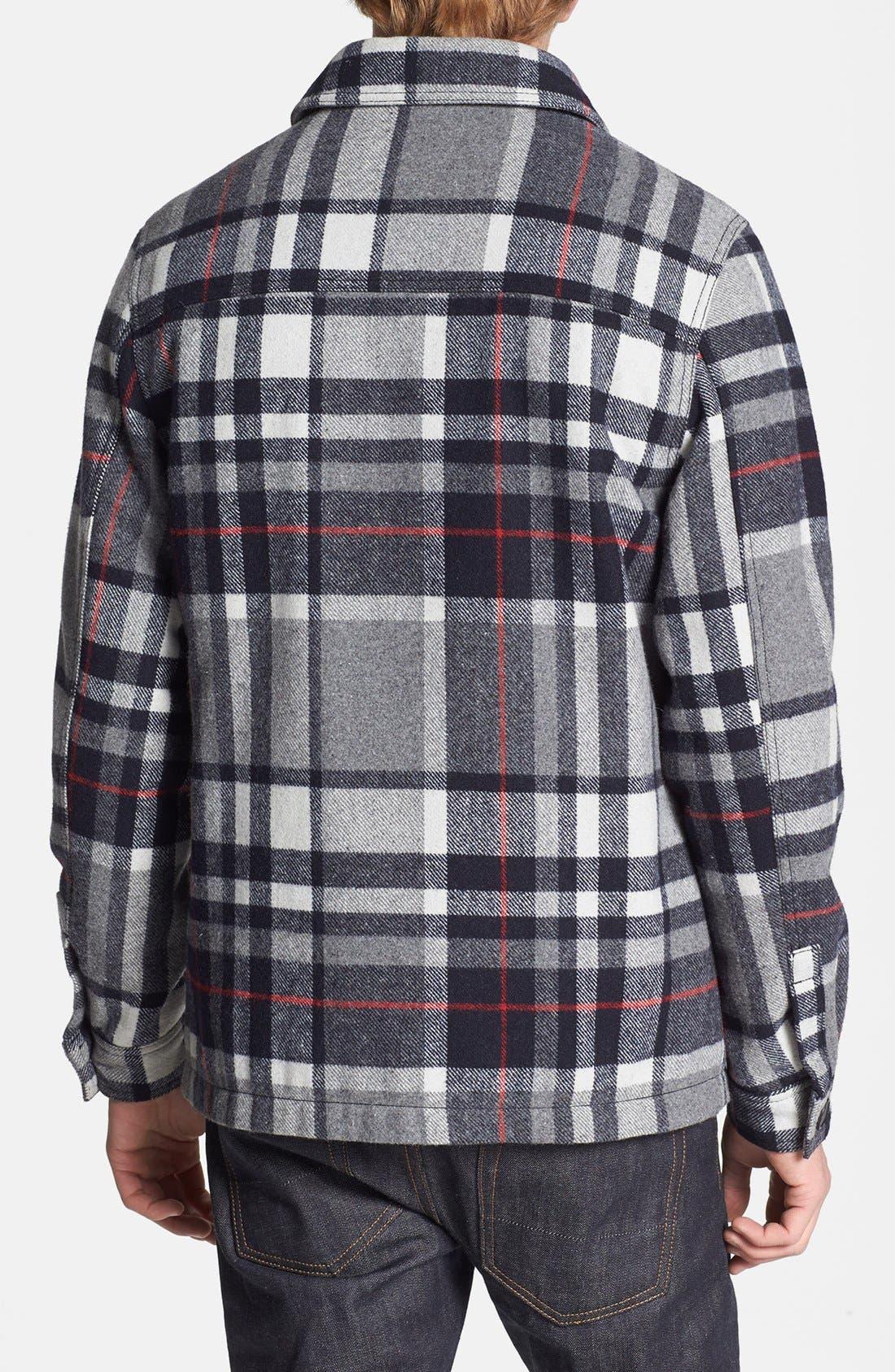 Alternate Image 2  - Topman Check Wool Blend Flannel Shirt Jacket