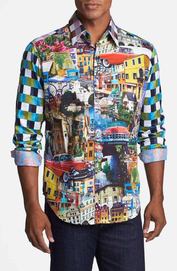 Robert graham 39 sughrue 39 classic fit sport shirt limited for Where are robert graham shirts made