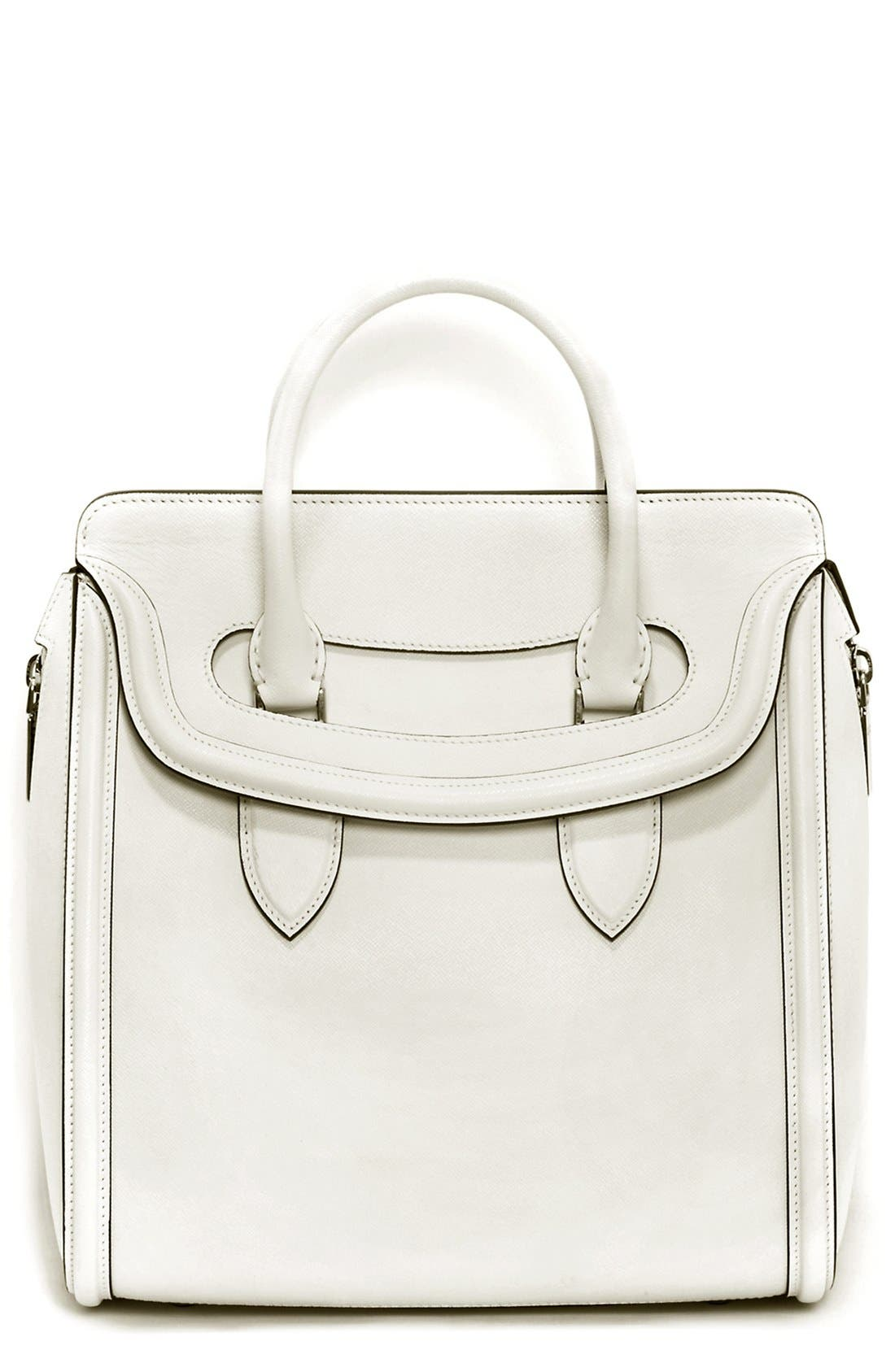 Alternate Image 1 Selected - Alexander McQueen 'Medium Heroine' Calfskin Leather Satchel